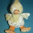 "Russ Berrie CHEEKS EASTER CHICK DUCK 8"" Yellow Orange Plush Bean Bag Soft Toy"