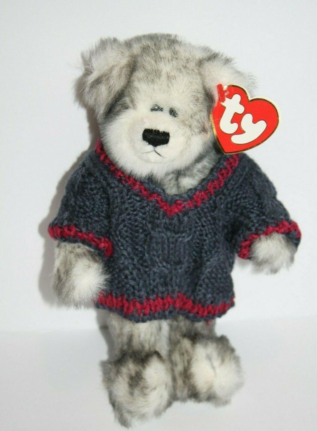 TY Attic Treasures FAIRBANKS BEAR SWEATER Plush Stuffed Animal Soft Toy Tag 1993