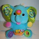 "Playskool 2005 Busy Activity Plush Circus Elephant 12"" Stuffed Rattle Toy 05414"