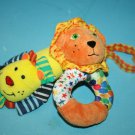 Infantino Infant BABY Boy Girl SOFT TOY Lion Rattle Plush Wrist Hand Ankle Lot 2