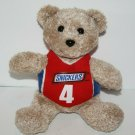 """Galerie SNICKERS Candy Bar TEDDY BEAR 6"""" #4 Red Shirt Small Plush Stuffed Animal"""