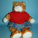 Build A Bear KITTY CAT Orange TABBY Striped Plush Stuffed Shirt Skirt Soft Toy