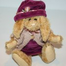 """Boyds Bears EASTER BUNNY RABBIT 8"""" Purple Jumper Sweater Hat Jointed Plush Doll"""