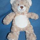 Blankets & Beyond TEDDY BEAR Beige Tan Swirl Plush Stuffed Heart Nose Soft Toy