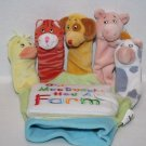 OLD MACDONALD Animal Fingers GLOVE Puppet Book Plush Soft Toy Little Scholastic