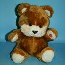 "Regina Trading Twinkley Teddy Bear 12"" Plush Stuffed Animal No Sound 1987 VTG"