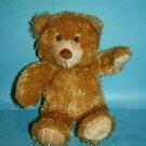 """11"""" TEDDY BEAR Honey Tan Plush Nose Soft Toy Stuffed Sewn Eye Baby Cuddly Lovey"""