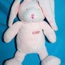 "Kmart EASTER BUNNY RABBIT 11"" Pink Chenille Long Floppy Ears Soft Toy Stuffed"