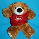 """Galerie TEDDY BEAR 9"""" Brown Plush Valentines Day Target Red Heart Love Sweater"""