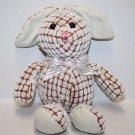 Goffa EASTER BUNNY RABBIT Raised Dot Chenille Cream Brown Plush Soft Toy Stuffed