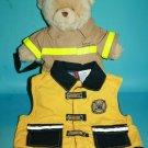"Build A Bear Fireman Plush 15"" Fire Rescue 18 Months Kid Vest Lot Stuffed Animal"