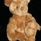 "Burberry TEDDY BEAR 13"" Brown Tan Plush Stuffed Animal Soft Toy Russ Berrie 2010"