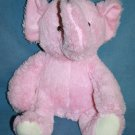 """Beansprout ELEPHANT 14"""" Pink Fluffy Plush Baby Soft Toy Sewn Eyes White Feet"""
