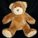 "Build A Bear TEDDY BEAR 14"" Brown Cream Feet Plush Soft Toy Stuffed Animal BABW"