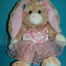 "Build A Bear EASTER BUNNY RABBIT 17"" Ballet Ballerina Tutu Dress Plush Soft Toy"