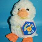 """Kellytoy Kuddle Me EASTER DUCK 10"""" Yellow Orange Soft Plush Stuffed Animal NEW"""