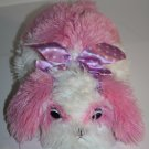 "Aurora DOG 12"" MADDY PUPPY Pink White Plush Purple Dot Bow Soft Stuffed Bean Bag"