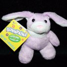 "Mini BUNNYKINS EASTER BUNNY RABBIT 4"" Soft Toy Hilco PURPLE WHITE Plush Stuffed"