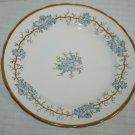 "England Floral Tuscan Salad Plate 8"" Fine Bone China Avondale Blue Gold F163"