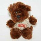 "Animal Adventure Mini TEDDY BEAR 4"" Valentines Brown Plush Cream XOXO Sweater 09"