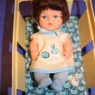 "Eegee Goldberger Berry Bunch Small Baby Doll 6"" Basket BLUEBERRY 1979 Vinyl VTG"