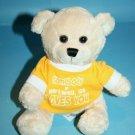 "7"" Teddy Bear Stuffed Animal Beige Light Tan Sits Soft Toy Plush Hartwell GA Tee"