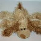 "TY Punkies SHREDS PUPPY DOG 9"" Tan Eyelash Plush Stuffed Animal Shaggy Soft 2002"