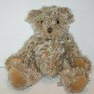 """CHANDLER Teddy Bear 12"""" Plush Stuffed Furry Shaggy Fur Beige Soft Toy ASI 62960"""