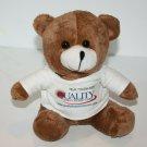 "Puli Intl Teddy Bear 8"" Brown Plush Stuffed Quality Care Tee Shirt Tony Soft Toy"