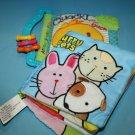 Soft Cloth Baby Books Quack Says the Duck Furry Pets Dog Developmental Toy Lot 2