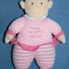 BABY Girl DOLL Pink Plush Children Are a Gift of the Lord Rattle Toy Dayspring
