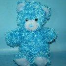 "A Mart Teddy BEAR 14"" Aqua Light Blue Curly Plush Soft Toy Sewn Nose Stuffed"