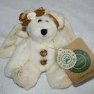 """Boyds Bears Cassie Good Night Teddy Bear 6"""" Ivory Angel Wing Plush Soft Tag"""