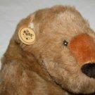 "RUSS Berrie FOREST BEAR 15"" Brown Plush Teddy Stuffed Animal 321 VTG Soft Toy"