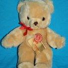 "Hermann Original TEDDY BEAR 10"" Beige Soft Toy Tan Plush Tag Brown Nose Germany"