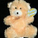 "Greenbrier TEDDY BEAR 8"" Fuzzy Friends Light Orange Peach Plush Stuffed Bow NEW"