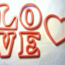 L.O.V.E. Cookie Cutters