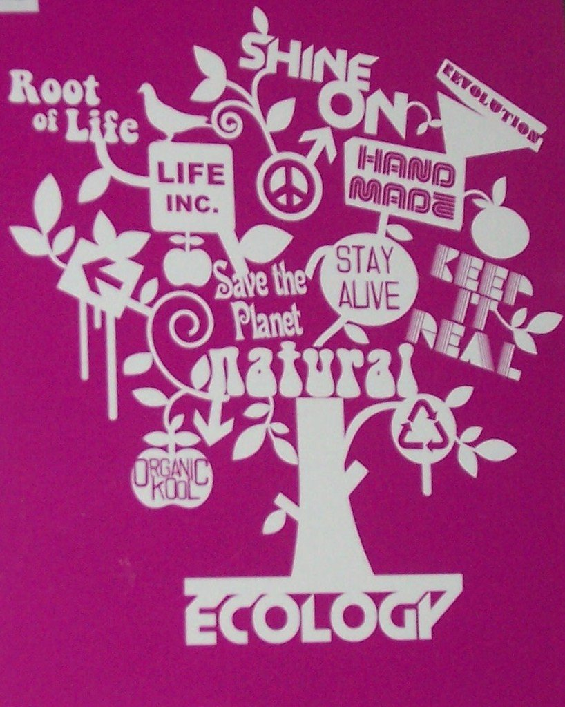 Retro Ecology Stencil