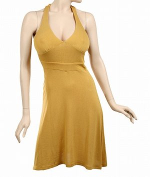 yellow gold murtard dress size small 4-6