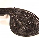 43100 Ornate Carved Ebony & Chrome Violin Chinrest