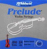 86033 D'Addario Violin Prelude 3/4 Medium, J810-M