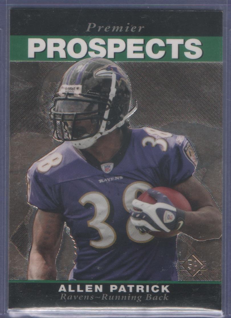 2008 Upper Deck SP Rookie Edition Allen Patrick 1995 SP RC Ravens Browns Giants Jaguars Rams Colts