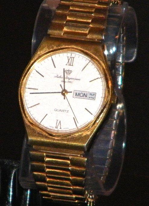 Vintage Men's Jules Jurgensen Swiss Quartz Date Watch