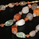 Natural Gemstone Quartz Agate Chunky Bead Necklace