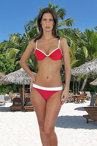 (L) 40 .New Prestige, Barbados bikini,  push-up bra