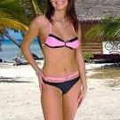 (XS) 34.New Prestige, Cypress bikini, bandeau top. Free shipping!