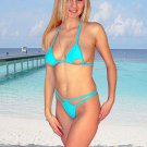 (XS) 34 .New Prestige, Bellatrix g-string bikini, cut-out triangle top. Free shipping!