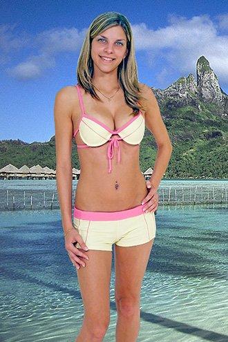 (XS) 34 .New Prestige, Martinique (A) push-up bikini,  short. Free shipping!