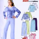 Girls Tops Pants Skirt size 12 sewing pattern McCalls 4554