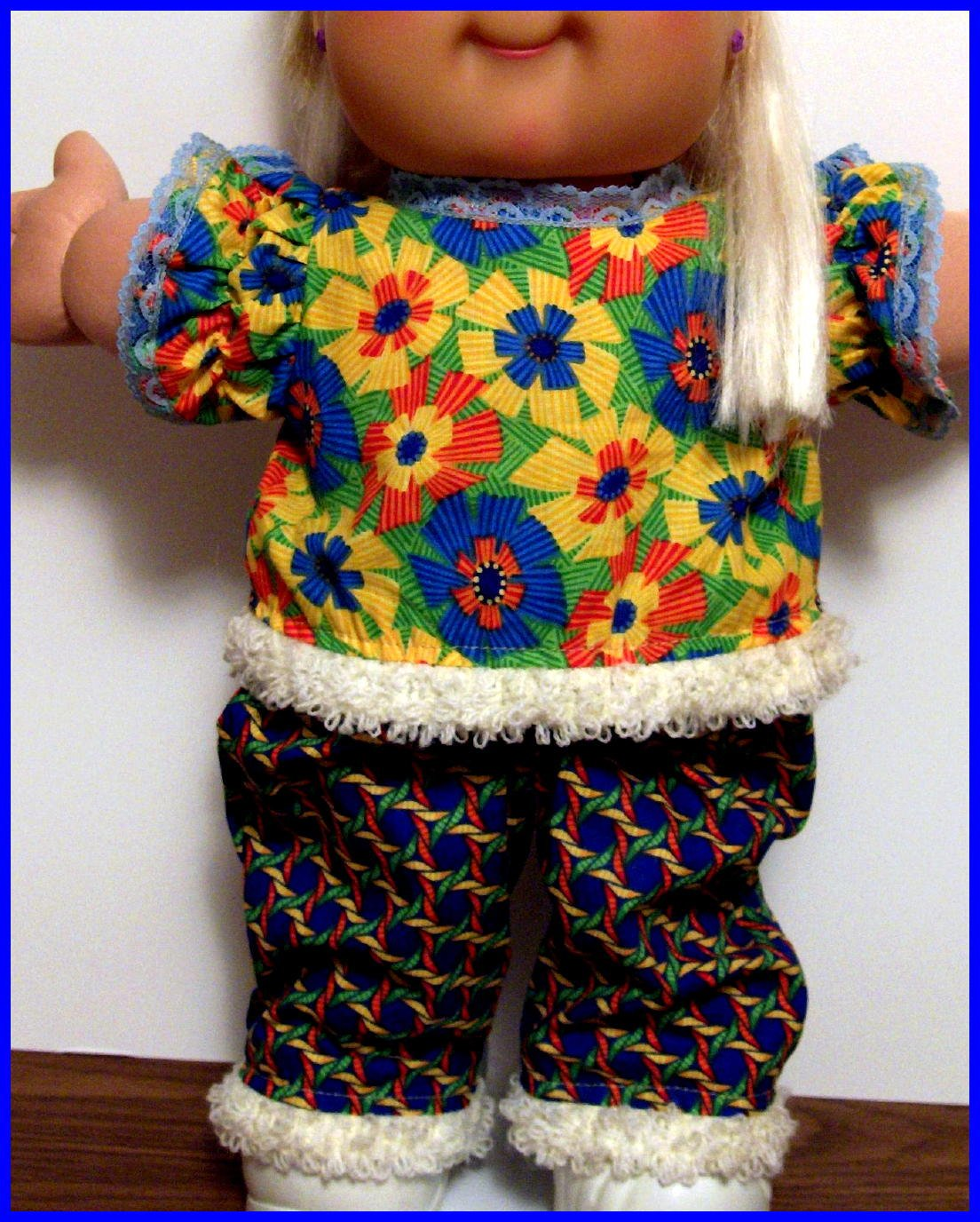 the Mod 70s / top n pants for your Cabbage Patch Kids or Baby Alive Doll